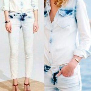 Madewell Skinny Crop Jeans, Light Storm Acid Wash